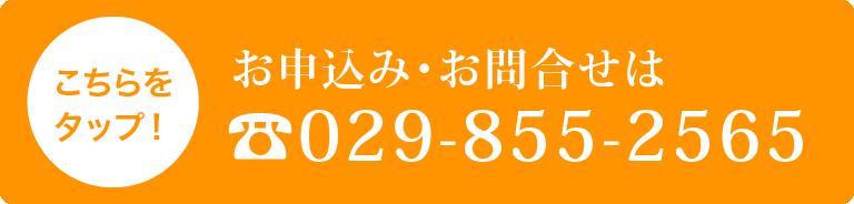 お申込み・お問合せは029-855-2565